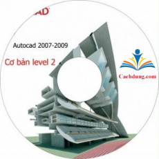 DVD VIDEO CƠ BẢN AUTOCAD 2D 2007-2008-2009 LEVEL 2